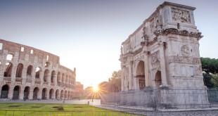 Рим на рассвете Колизей и Арка Константина
