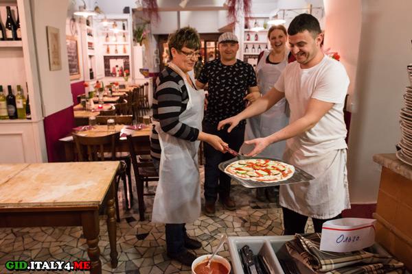 мастер класс по приготовлению пиццы в Риме отзыв