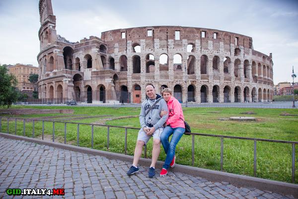 экскурсия в Риме у Колизея на рассвете в мае 2016