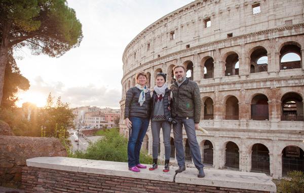 Экскурсия в Риме на рассвете в ноябре 2016