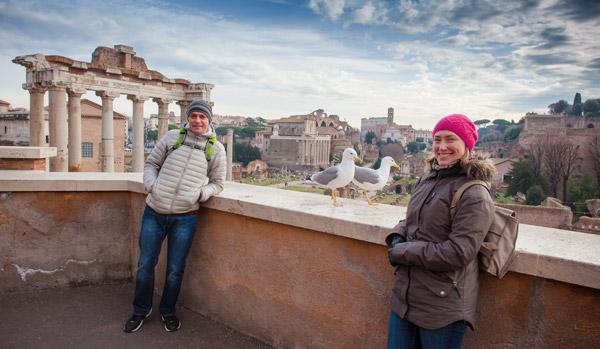 Экскурсия по Риму на рассвете в январе 2017 фото с чайкой