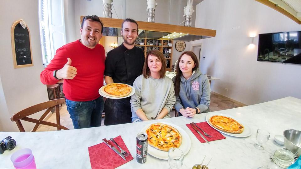 Мастер-класс по пицце в Риме