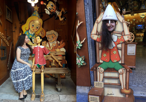 Магазин Пиноккио в Риме