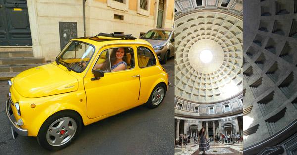 Fiat 500 в Риме