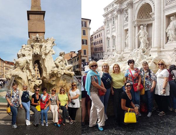 Площадь Навона и фонтан Треви в Риме