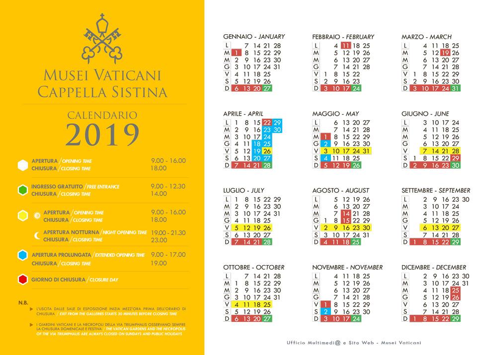 Музеи Ватикана даты когда будут открыты вечером в 2019 году