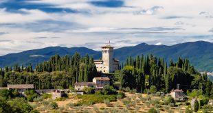 Средневековый замок в Тоскане
