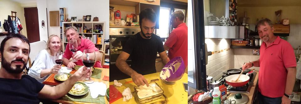 мастер-класс по приготовлению пасты и Тирамису в Риме