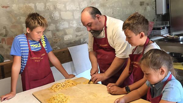 урок итальянской кухни в Тоскане